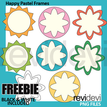 Free clipart - Happy Pastel Frames/ Labels (teacher resource)
