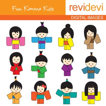 free clipart kimono kids by revidevi teachers pay teachers rh teacherspayteachers com Digital Clip Art for Teachers Teachers Pay Teachers Quote