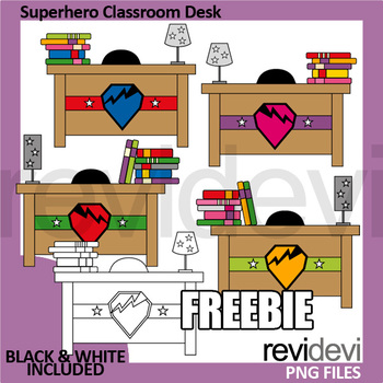 Free clipart Superhero Classroom Desk by REVIDEVI