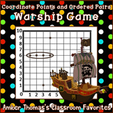 "Free coordinate points and ordered pairs game:  ""Warship"""