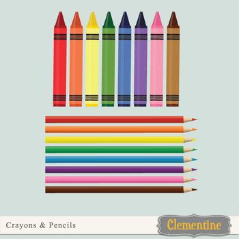 Free crayon and pencil clip art