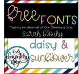 Free cursive & print fonts!