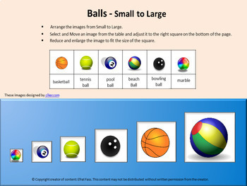 Math Compare sizes Paperless Free