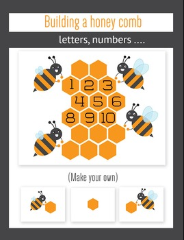 Free download packet of engaging activities with bears and bees (Commercial use)