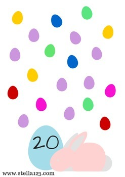 Free easter number play dough mats