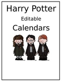 Free editable Harry Potter Calendars