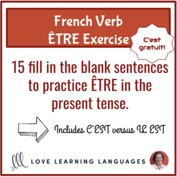 French verb être present tense exercise
