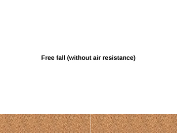 Free fall-without air resistance