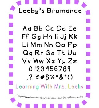 Free font for personal and commercial use - Leeby's Bromance