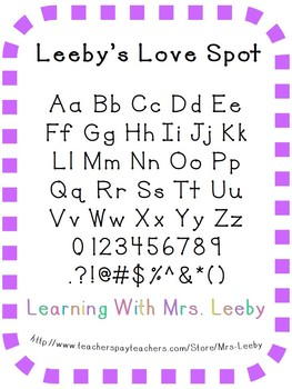 Free Font for personal and commercial use - Leeby's Love Spot