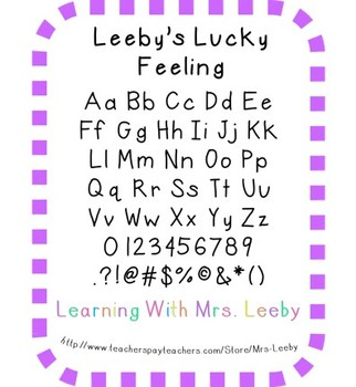 Free font for personal and commercial use - Leeby's Lucky Feeling