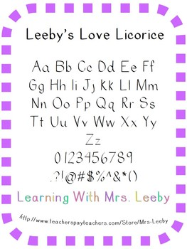 Free font for personal and commercial use - Love Licorice