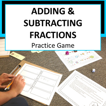 Adding and Subtracting Fractions Game