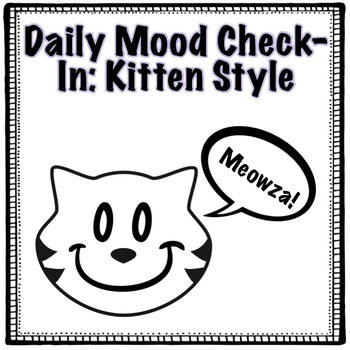 2-5 Kitten Mood Tracker: Elementary and Special Education