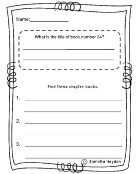 Book Order Fun Literacy/Math Center/Worksheets