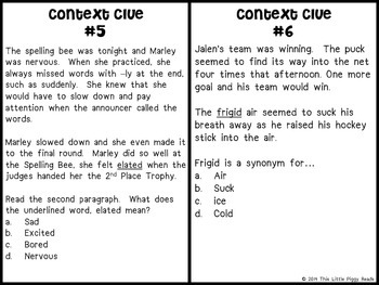 Context Clues Round-the-Room - TEKS and CCSS Aligned