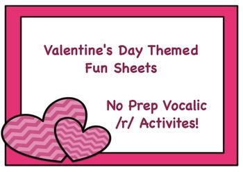 Vocalic /r/ for Valentine's Day!