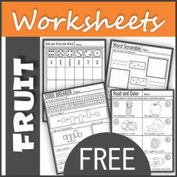 Free fruit worksheets
