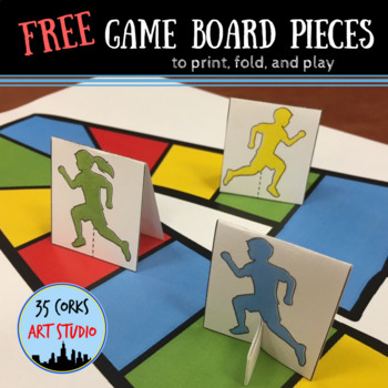 Free Game Board Pieces - print, fold, and play!
