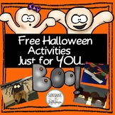 Halloween Activities Just for YOU...BOO!{FREE}