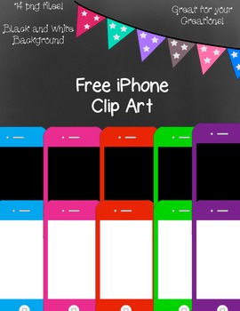 Free iPhone Clip Art ~ Black and White Master Copies Included - 14 png images