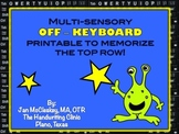 Free keyboarding top row coloring sheet printable for begi