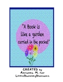 Free materials-A book is like a garden carried in your pocket