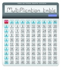 Free multiplication calculator graphic 1 to 10 in calculator design
