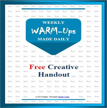Free one page Weekly Warm-Ups