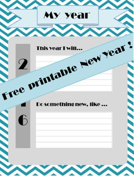 Free printable new Year's resolutions 2016 !