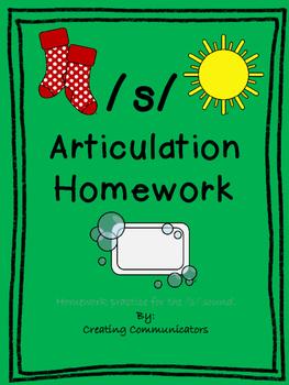 Free /s/ articulation homework