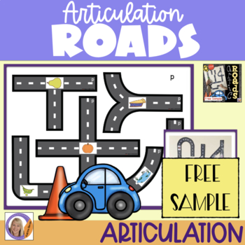 Free sample! Articulation Roads: An Interactive Speech Game for speech therapy