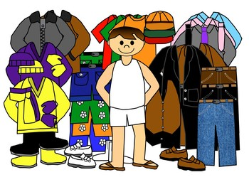 Boys with clothes for all seasons clip art by Charlotte's ...