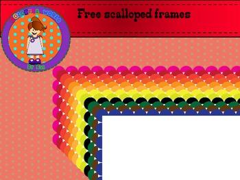 Free scalloped frames