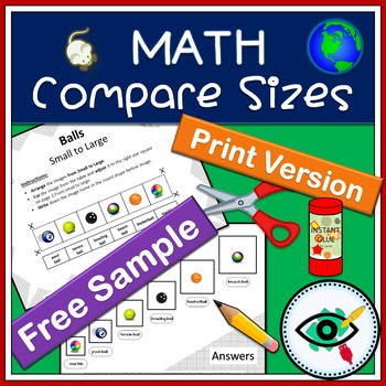 Math Compare sizes printable Free