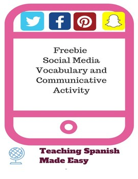 Freebie- Social Media Vocabulary and Comprehension Activity