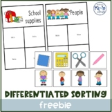 Free Sorting Activity/ Task box or File Folder