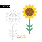 Free spring clip art - sunflower illustration