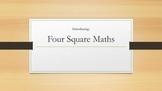 Four Square Warm Up: Place Value, Addition, Subtraction, Division