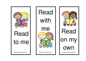 Stick kids home reading bookmarks