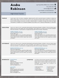 Free teacher resume template bundle with cover letter in e