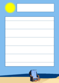 Free template for dictations or story writing