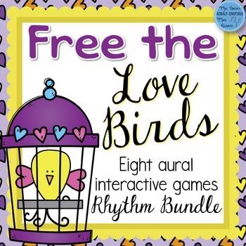 Free the Love Birds Aural Interactive Games {8-Game Rhythm