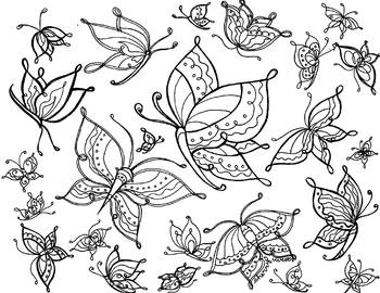 Free to Fly Coloring Page, Clip Art
