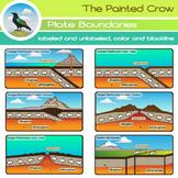 Plate Boundaries - Geology - Earth Science Clip Art Set