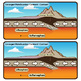 Plate Boundaries - Geology - Earth Science Clip Art Set