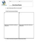 Free verse poem worksheet
