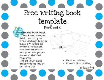 Free writing book template