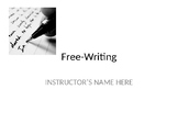 Free-writing prompts/lecture 56 topics --College Compositi
