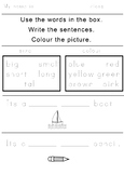 Free writing with adjectives worksheet